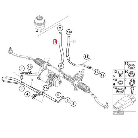 BMW MINI ミニ R50 R53 R52 パワステインテークパイプ/インテークホース/パワステホース 32416754498 stk326 Cooper One 1.6i CooperS