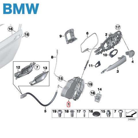 純正 BMW 3シリーズ F30 F31 F34 リヤ/リア ドアロックアクチュエーター 左
