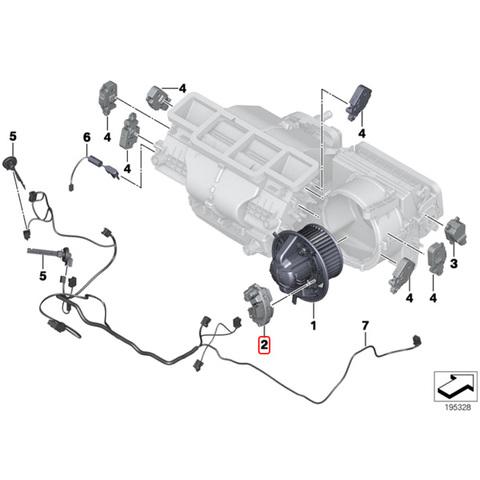 febi bilstein製 BMW Xモデル X3/F25 X4/F26 ブロアレジスター/ブロアレギュレーター 64119265892 xDrive20d/20i/28i/35i M40i