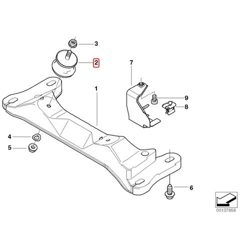 純正OEM LEMFORDER製 BMW E87 E88 E82 ミッションマウント 左右セット 22316799331 22316771220 22316799330 116i 118i 120i