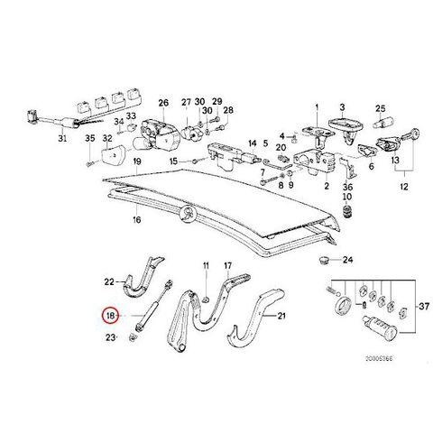 BMW E32 トランクダンパー/トランクリッドガスダンパー左右 51241908431 730i 730iL 735i 735iL