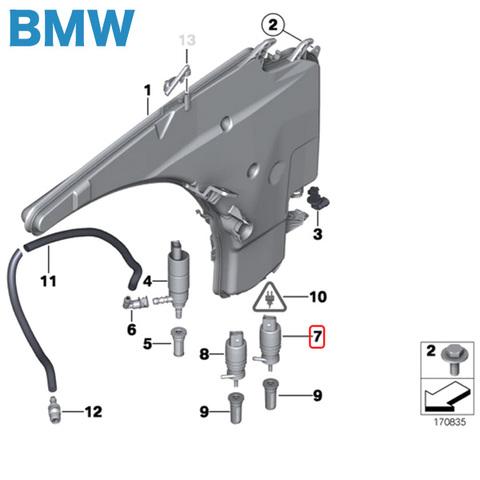 BMW X3/E83 F25 ウィンドウウォッシャーポンプ 67128362154 2.5i 3.0i 2.5si/xDrive25i 3.0si/xDrive30i