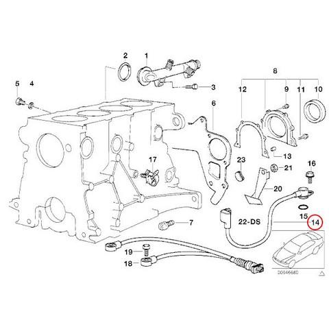 純正 BMW Z3(E36) クランクシャフトセンサー クランク角センサー クランクセンサー M44エンジン 12141247622 1.9