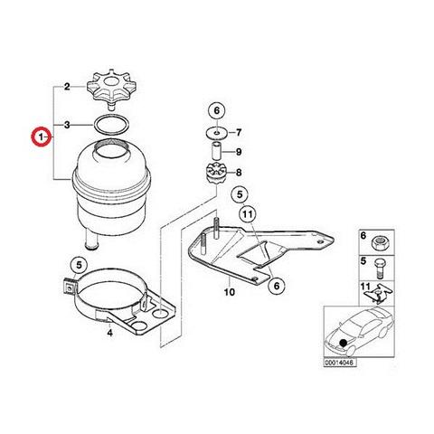 BMW Xモデル X3/E83 パワーステアリングオイル リザーバータンク/リザーブタンク/サブタンク 32416851217 2.5i 3.0i