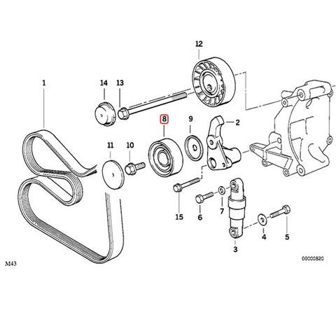 RUVILLE製 BMW 5シリーズ E60 E61 アイドラプーリー/アイドルプーリー/ガイドプーリー 11281748131 525i 530i