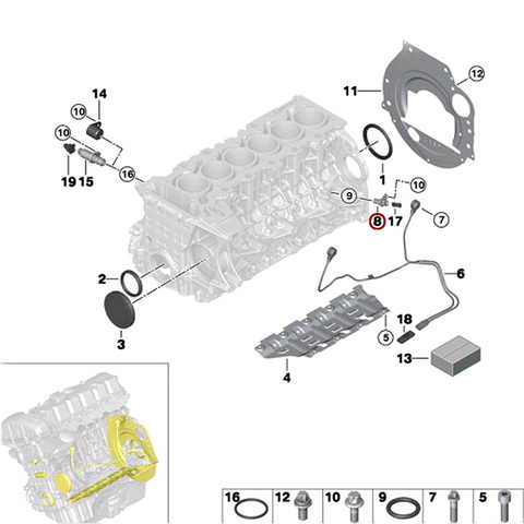 純正OEM VDO製 BMW F01 F02 クランクカクセンサー クランクシャフトセンサー 13627525015 740i 740Li