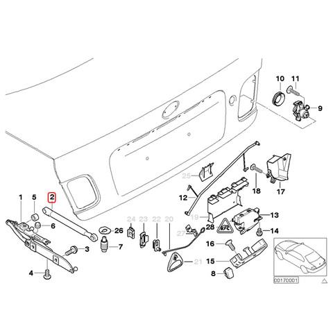 STABILUS製 BMW トランクダンパー