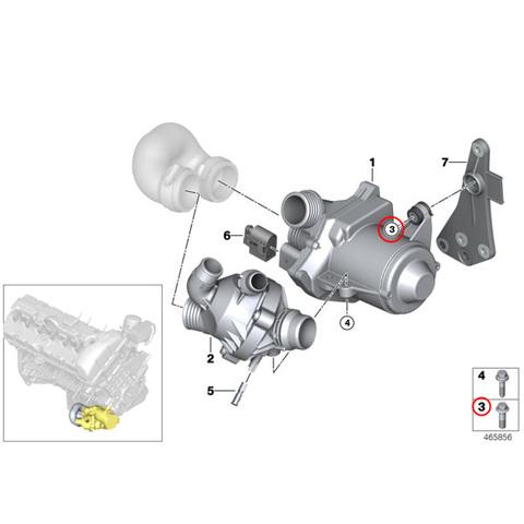 電気式ウォーターポンプ用 ASAボルト