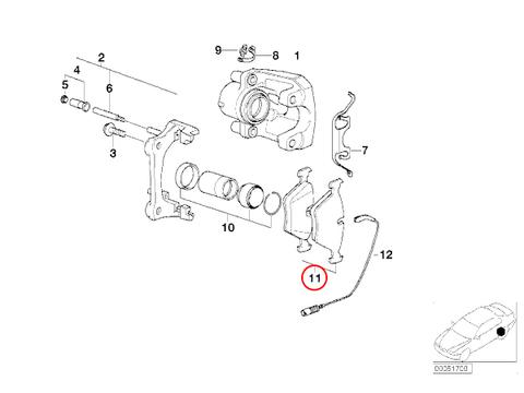 BMW リア ブレーキパッド