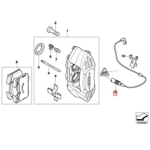 ミニ フロント ブレーキパッドセンサー
