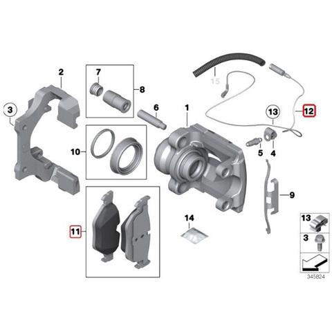 BMW リア ブレーキパッド&パッドセンサー