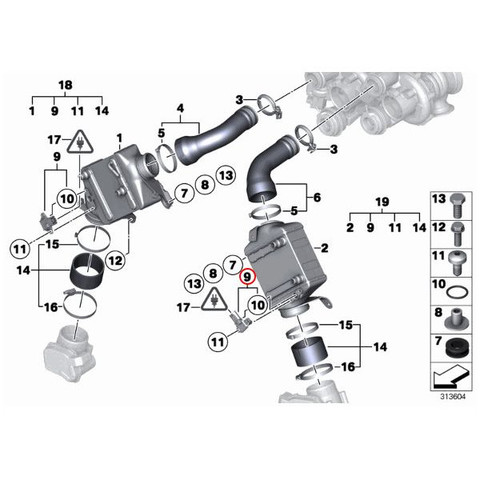 BMW ブーストプレッシャーセンサー