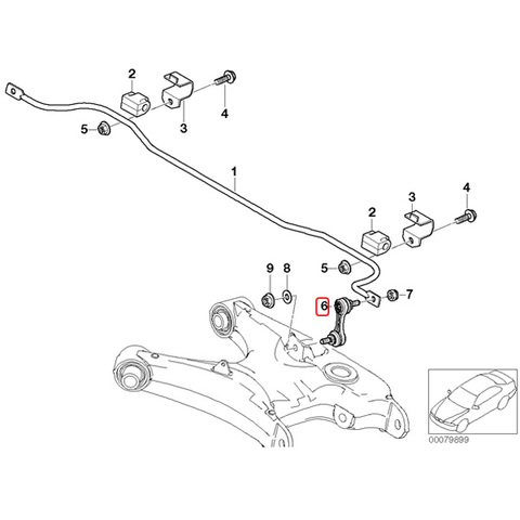 BMW スタビライザーリンク/スタビリンクロッド 左右セット