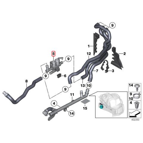 BMW ヒーターバルブ/ウォーターバルブ