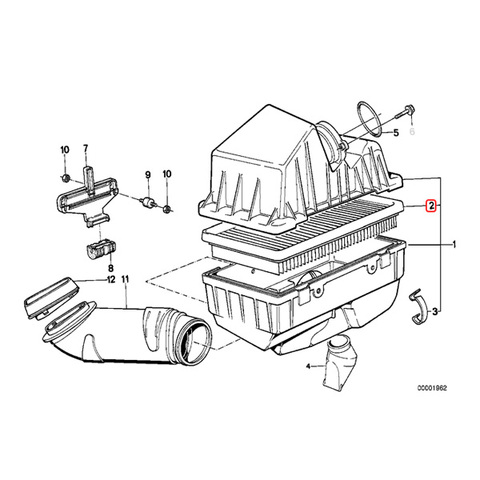 MAHLE製 BMW エアフィルター