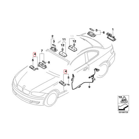 BMW 18連 LED カーテシランプ