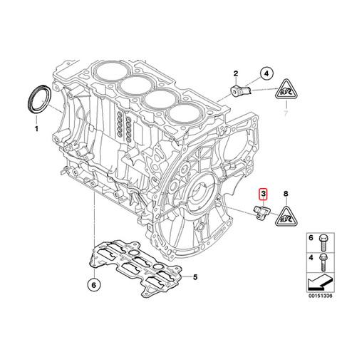 One New Febi Bilstein Engine Crankshaft Position Sensor 31088 for Mini