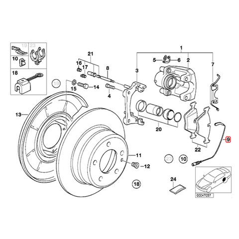 BMW ブレーキパッドセンサー