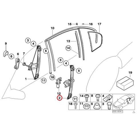 [6ヶ月保証] BMW E46 リア/リヤ パワーウインドウレギュレーター 左側 51358212099 51358200717 318i 320i 323i 325i 328i 330i 330xi