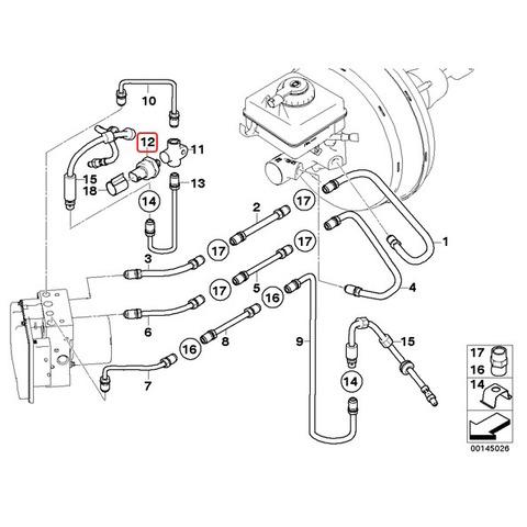 BMW ブレーキ 圧力センサー