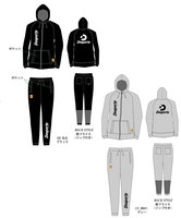 【予約販売】Desporteトレーニングスウェットパーカー(ジップ)