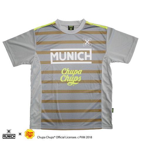 MUNICHチュッパチャプスロゴ昇華プラクティスシャツ