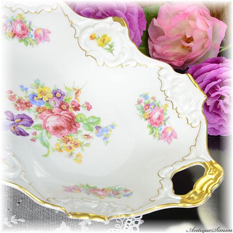 カイザー KAISER 優美で上品な飾皿 テーブルに美しい演出を 見事な金彩 飾り皿 アルカクンスト アルカババリア ALKA 存在感のある盛り皿