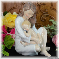 ロイヤルコペンハーゲン ROYAL COPENHAGEN すばらしい成型技術 やわらかな釉下彩 赤ちゃんを抱く母 フィギュリン アンダーグレイズ No541 崇高な美しさ 御祝ギフトにも