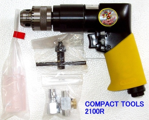 コンパクトツール 2100R 正逆回転エアードリル 10.0mm用 代引発送不可 税込特価