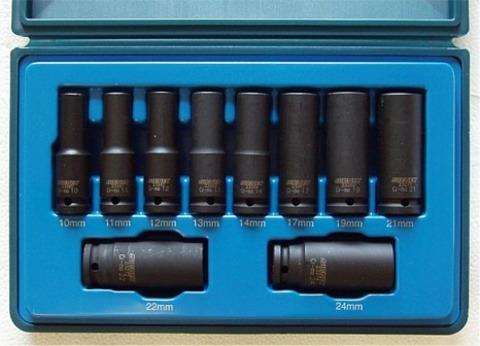 23291 ミリサイズのデープインパクトソケットレンチセット
