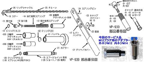 バルブコッター・ツールとバルブシール・プーラーセット