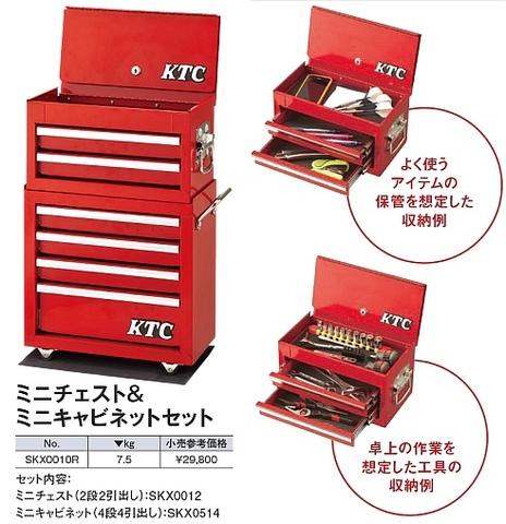 SKX0010R KTC ミニチェスト&ミニキャビネットセット レッド