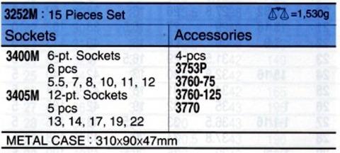"""コーケン(Ko-ken) 3252M ソケットセット 3/8""""(9.50mm)sq 税込特価"""
