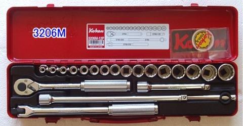 "Ko-ken(コーケン) 3206M ソケットセット 3/8""(9.50mm)sq 税込特価!!"