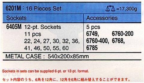 6201M-12 ソケットセット