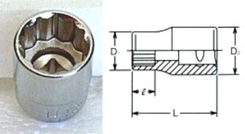 RS2405M-11 12角ミリサイズソケットセット