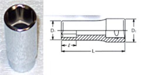RS2300M-11 6角ミリサイズディープソケットセット
