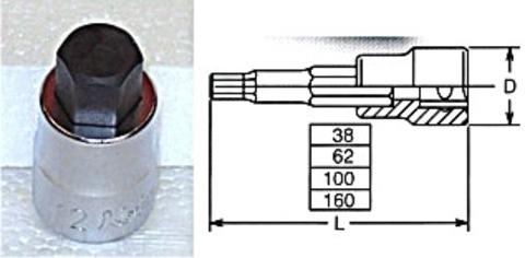 コーケン(Ko-ken) RS3010M/8-L38 ヘックスビットソケットセット 代引発送不可 税込特価