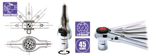 コーケン(Ko-ken) 3776P スイベルヘッドラチェット(ポリッシュ) 代引発送不可 税込特価