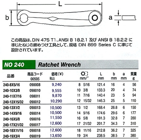STAHLWILLE(スタビレー) 240SET ファーストラッチ 2本セット 税込特価!!