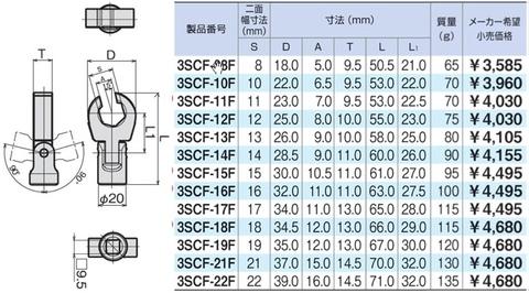 3SCF-HP8 トネ フレックス クロウフットレンチ
