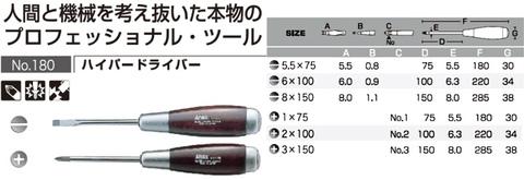 180/6 ANEX ハイパードライバー木柄6本セット