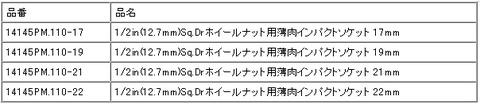 コーケン(Ko-ken) 14201M-4set ホイールナット専用インパクトソケット 代引発送不可 即日出荷 税込特価