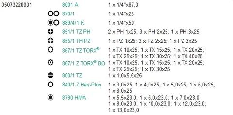 ベラ(Wera) 05073220001 ビットラチェット ビット+ソケットセット 代引発送不可 税込特価