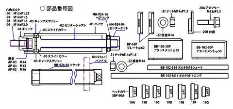 AP-216SP シャックルブッシュプーラー