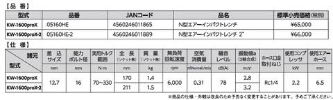 空研 KW-1600proX N型エアーインパクトレンチ 12.7mm角ドライブ KW-1600proXインパクトミニチュアキーホルダーのおまけ付!! 送無税込!!即納特価!!
