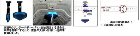 江東産業 KM-4000 自動車整備用特殊工具 トラッキングゲージ 万能タイプ 【代引発送不可】 送無税込特価!!