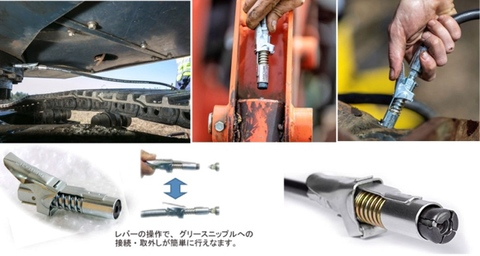 ヤマダ GLC-70 グリースロックカプラーと高圧ホースのセット 代引発送不可 全国送料無料 即日出荷 税込特価