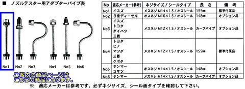 東洋テック(NPA) No1 ノズルテスター用アダプター 代引発送不可 税込特価