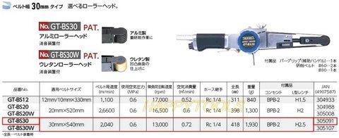 10台限定 決算特価 ベッセル(VESSEL) GT-BS30 エアーベルトサンダーとYZXB-30×540-60 替えベルトのセット 送料無料 即日出荷 税込特価